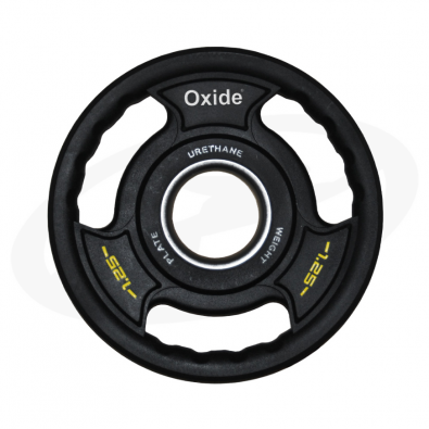 Черный олимпийский полиуретановый диск 1,25 кг.