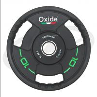 Черный олимпийский полиуретановый диск 10 кг. OWP02