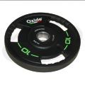 Черный олимпийский полиуретановый диск 10 кг.