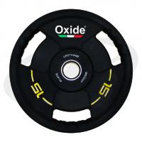 Черный олимпийский полиуретановый диск 15 кг. OWP02