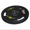 Черный олимпийский полиуретановый диск 15 кг.