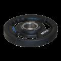Черный олимпийский полиуретановый диск 20 кг.