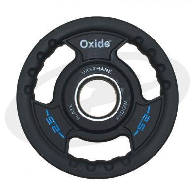 Черный олимпийский полиуретановый диск 2.5 кг.