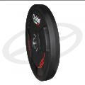 Черный олимпийский полиуретановый диск 25 кг.
