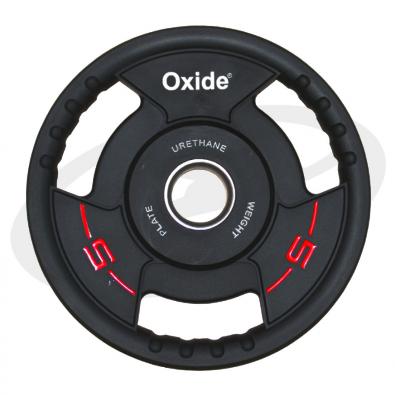 Черный олимпийский полиуретановый диск 5 кг.