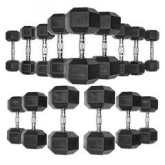 Гантели гексагональные обрезиненные от 1 до 10 кг DB139