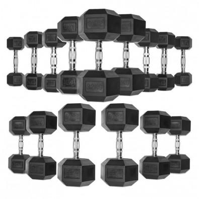 Гантели гексагональные обрезиненные от 22,5 до 30 кг DB139