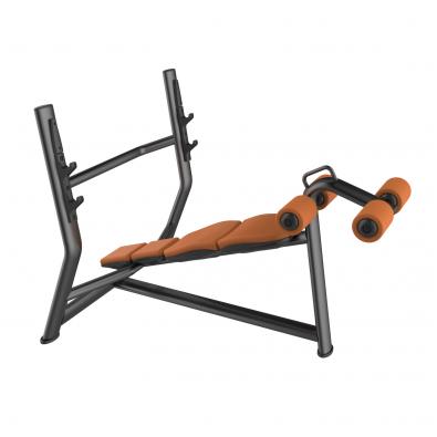 Скамья для жима олимпийская с обратным наклоном LD-7030A Land Fitness