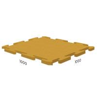 Резиновая плитка Rubblex Sport Puzzle 1000x1000x10 мм желтый