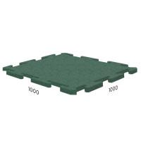 Резиновая плитка Rubblex Sport Puzzle 1000x1000x15 мм зеленый