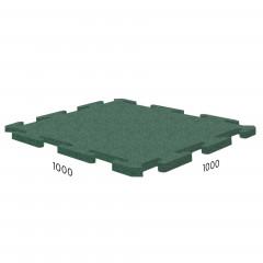 Резиновая плитка Rubblex Sport Puzzle 1000x1000x10 мм зеленый