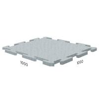 Резиновая плитка Rubblex Sport Puzzle 1000x1000x15 мм серый