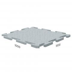 Резиновая плитка Rubblex Sport Puzzle 1000x1000x10 мм серый