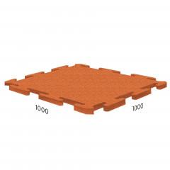 Резиновая плитка Rubblex Sport Puzzle 1000x1000x10 мм оранжевый