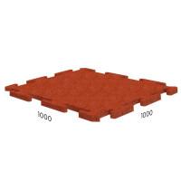 Резиновая плитка Rubblex Sport Puzzle 1000x1000x25 мм терракотовый