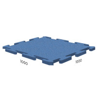 Резиновая плитка Rubblex Sport Puzzle 1000x1000x15 мм синий