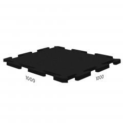 Резиновая плитка Rubblex Sport Puzzle 1000x1000x10 мм черный
