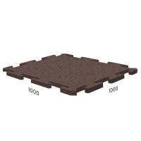 Резиновая плитка Rubblex Sport Puzzle 1000x1000x15 мм коричневый
