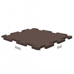 Резиновая плитка Rubblex Sport Puzzle 1000x1000x10 мм коричневый